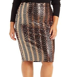 Charlotte Russe Skirts - Plus size 1X scalloped sequin skirt